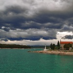 travel___Dark Clouds___Punat, Croatia.
